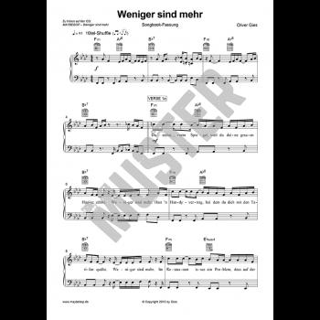 Weniger sind mehr - Piano Songbook