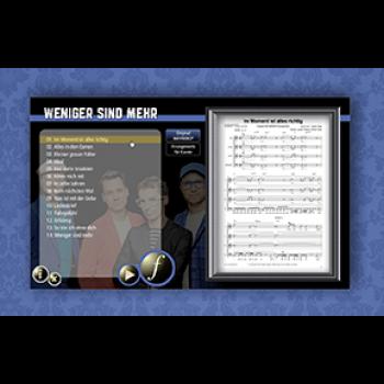 Weniger sind mehr - Songbook Digital
